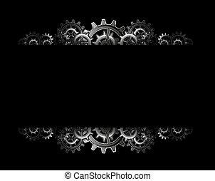 steampunk, engrenagens, quadro
