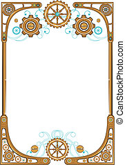 Steampunk style frame