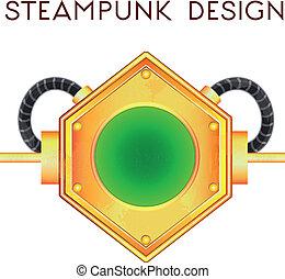 steampunk, estilo, elemento