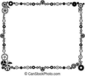 Steampunk frame made of cogs