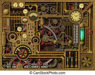 steampunk, fundo