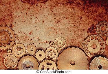 Steampunk gears background - Steampunk background from...