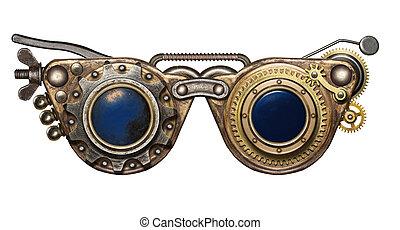 steampunk, goggles