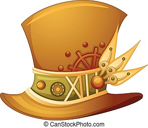 Steampunk Hat - Illustration of a Top Hat with a Steampunk...