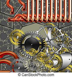 steampunk, industriale, meccanismo