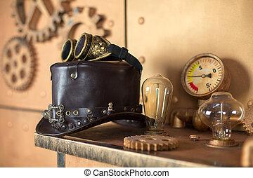 steampunk, interier