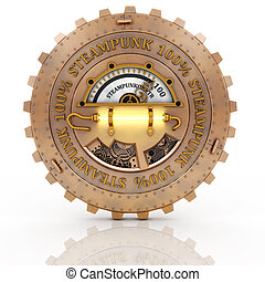 Steampunk label isolated on white background - Steampunk...