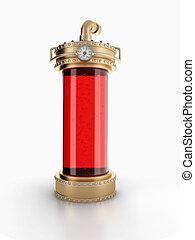 Steampunk laboratory bottle - Copper laboratory bottle for...