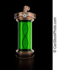 Steampunk laboratory bottle - Copper laboratory bottle for...