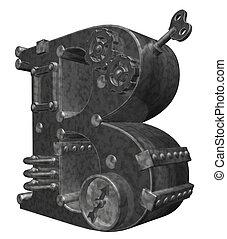 steampunk letter b