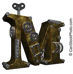 steampunk letter m