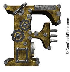 steampunk, lettre f