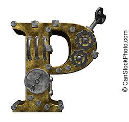 steampunk, lettre p