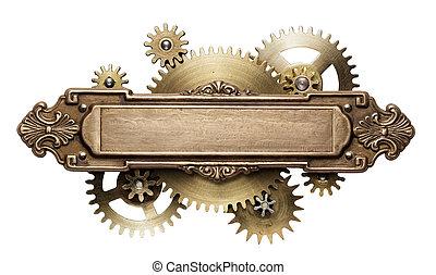 steampunk, mécanisme, rouage horloge
