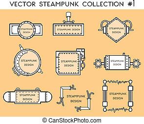 steampunk, quadro, estilo
