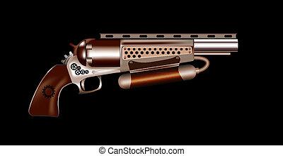 steampunk, revólver