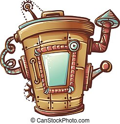 Steampunk Trash Bin