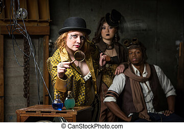 Steampunk Trio with In Retro Lab - Three Steampunks with in ...