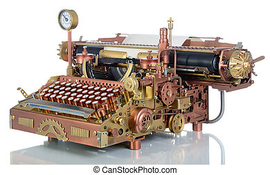 Steampunk Typewriter. - Steampunk style future Typewriter....