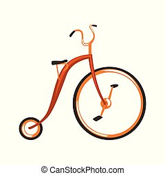 Steampunk vintage bicycle vector Illustration on a white background