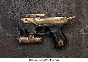 steampunk weapon laser - weapon in steampunk look individual...