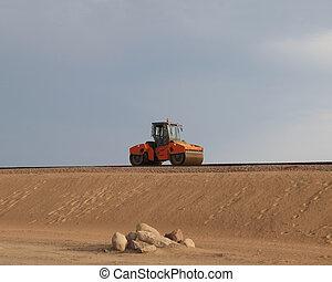 steamroller build new highway