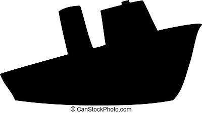 Steamship silhouette
