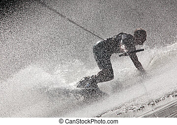 Steamy Waterboarding Drift - Photo Of A Dynamic...