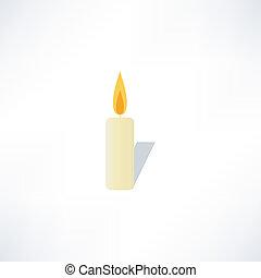 stearinljus, ikon