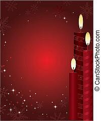 stearinljus, jul, bakgrund