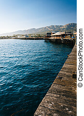 Stearn's Wharf, in Santa Barbara, California.