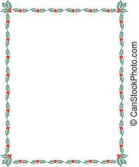 stechpalme, rahmen, umrandungen, weihnachten