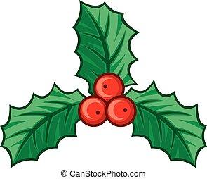 stechpalme, symbol, weihnachten, beere