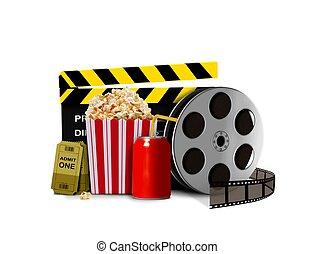stecken mais, mit, soda, und, film, shows