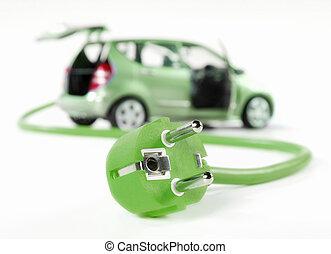stecker, Auto, elektrisch, kabel