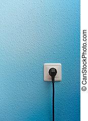 stecker, ledig, elektrische einfaßung