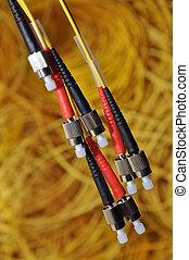 stecker, optisch, mehrere, grundwortschatz