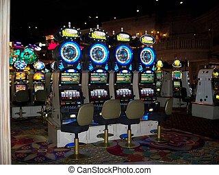 steckplatz, kasino, maschinen