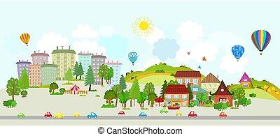stedelijk ontwerp, jouw, landscape