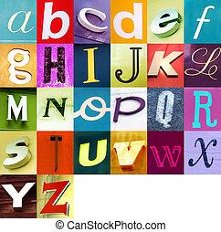 stedelijke , alfabet, 2