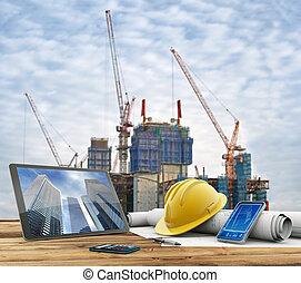 stedelijke bouw, bouwterrein