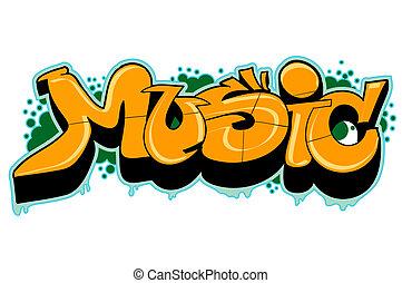 stedelijke graffiti, kunst