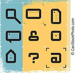 stedelijke , iconen, web