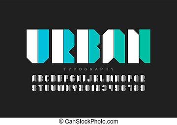 stedelijke , stijl, lettertype