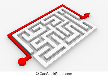 steegjes, door, labyrint