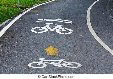 steegjes, fiets