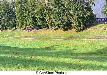 steegjes, in park