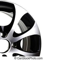 car rim - steel alloy car rim on a white background