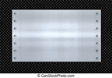 great image steel plate on carbon fibre