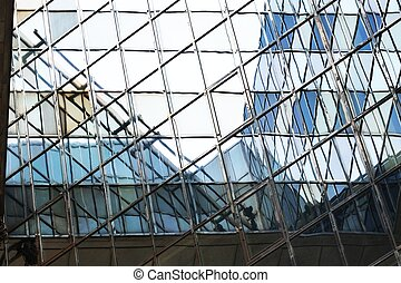 Steel and glass abstract pattern